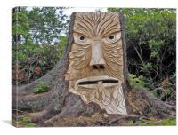 stump face unpainted, Canvas Print