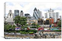 London from the tower, Canvas Print