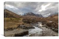 Valley Near Fort William Scotland, Canvas Print