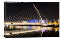 Samuel Beckett Bridge Cable-stayed bridge in Dubli, Canvas Print