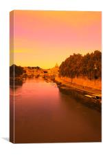 Up the Tiber, Canvas Print