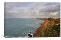 North Cornwall Coast, North Cliffs to Perranporth, Canvas Print