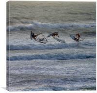 Airborne Windsurfing, Canvas Print