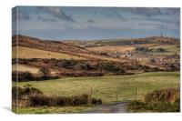 View towards Carn Brea, Canvas Print