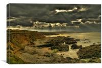 Storm Approaching Gwithian Towans, Canvas Print