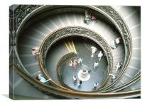 Vatican Staircase, Canvas Print