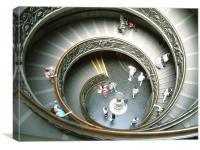 Vatican Staircase, Canvas Print