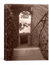 clocktower steps, Canvas Print