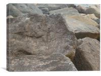rocks of sidmouth, Canvas Print