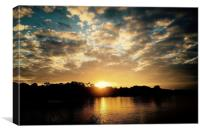 Sunset at Windsor Royal Park, Canvas Print