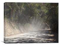 Dust Along the Road, Canvas Print