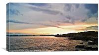 west coast sunset, Canvas Print
