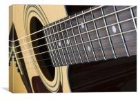 acoustic guitar, Canvas Print