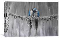 Parrot love, Canvas Print