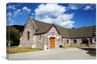 Parish Church from Banff National Park, Canada, Canvas Print