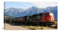 train at Jasper railway station, Canvas Print