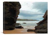 rock beach, Canvas Print