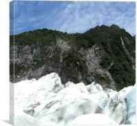 glacier, Canvas Print