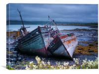 Boat Wrecks On Mull, Canvas Print