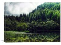 Reflections On Loch Chon, Scotland, Canvas Print