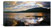 Loch Tulla At Sunset, Canvas Print
