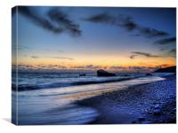 Sundown On Aphrodites Beach, Canvas Print