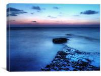 Beach Blues, Canvas Print