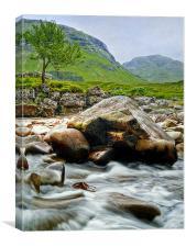 Glen Etive, Canvas Print