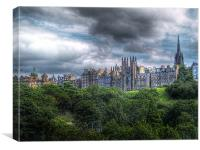 Edinburgh Skyline, Canvas Print
