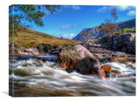 Autumn On The River Etive, Canvas Print