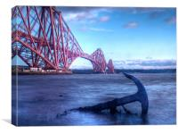 The Forth Rail Bridge Scotland, Canvas Print