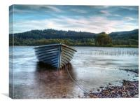 Wooden Boat On Loch Ard, Canvas Print