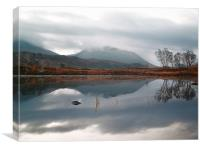 Morning Reflections On Loch Ba, Canvas Print