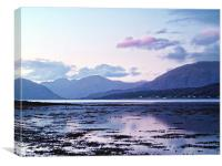 Evening light Over Loch Leven, Canvas Print