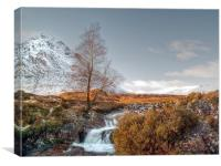 Snow On The Buachaille, Canvas Print