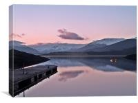 Winters Sunset On Loch Leven, Canvas Print