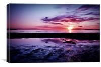 Troon Beach, Ripples, Canvas Print