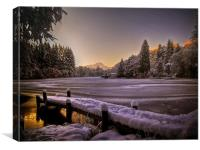 Loch Ard, Winter Sunset, Canvas Print
