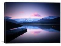 Dusk On Loch Leven, Canvas Print