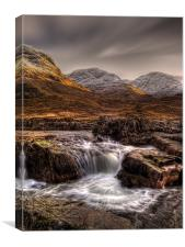 The River Etive, Scotland, Canvas Print