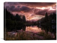 Loch Ard, Summer Glow, Canvas Print