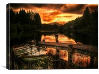 Loch Ard, Scotland, Canvas Print