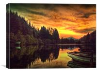Loch Ard In Spring, Canvas Print