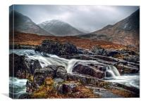 River Etive, Canvas Print