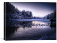 Loch Ard, Frozen In Time., Canvas Print