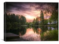 Springtime on Loch Ard, Canvas Print