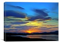 The River Forth At Sundown., Canvas Print