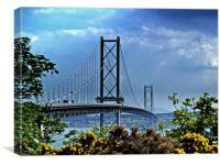 The Forth Road Bridge, Scotland., Canvas Print