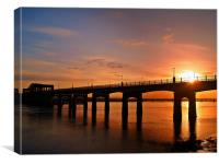 Sunshine Over The Kincardine Bridge., Canvas Print