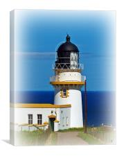 Tod Head Light House, Scotland, Canvas Print